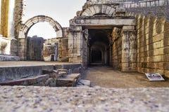 Ρωμαϊκή στοά θεάτρων Στοκ εικόνα με δικαίωμα ελεύθερης χρήσης