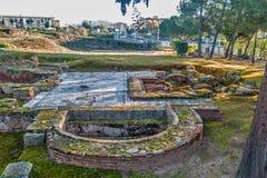 Ρωμαϊκή archeological περιοχή 2 σπιτιών Στοκ εικόνα με δικαίωμα ελεύθερης χρήσης