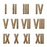 Ρωμαϊκοί αριθμοί καθορισμένοι απομονωμένοι στο λευκό Στοκ Εικόνες