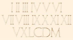 Ρωμαϊκοί αριθμοί καθορισμένοι Σύγχρονος ρωμαϊκός κλασικός αριθμός Στοκ φωτογραφία με δικαίωμα ελεύθερης χρήσης