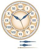 Ρωμαϊκοί αριθμοί ρολογιών Στοκ εικόνα με δικαίωμα ελεύθερης χρήσης