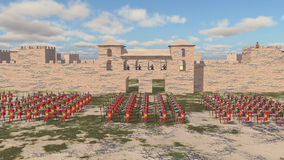 Ρωμαϊκοί στρατιωτικοί στρατόπεδο και λεγεωνάριοι ελεύθερη απεικόνιση δικαιώματος