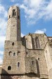 Ρωμαϊκοί τοίχος και πύργοι της Βαρκελώνης Στοκ φωτογραφία με δικαίωμα ελεύθερης χρήσης