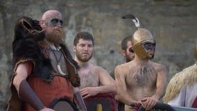 Ρωμαϊκός γαλλικός πολεμικός κελτικός πολεμιστής απόθεμα βίντεο