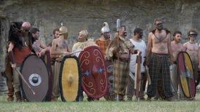 Ρωμαϊκός γαλλικός πολεμικός κελτικός πολεμιστής φιλμ μικρού μήκους