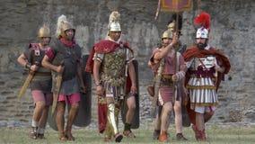 Ρωμαϊκός γαλλικός πολεμικός ρωμαϊκός λεγεωνάριος απόθεμα βίντεο