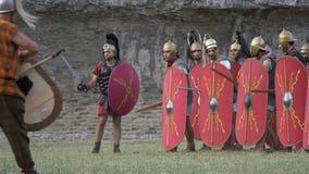 Ρωμαϊκός γαλλικός πόλεμος απόθεμα βίντεο
