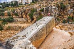 Ρωμαϊκός μονόλιθος 04 Baalbek στοκ εικόνες με δικαίωμα ελεύθερης χρήσης