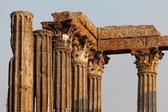 Ρωμαϊκός ναός της Diana, Evora Στοκ Εικόνες