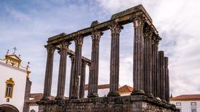 Ρωμαϊκός ναός της Evora στην Πορτογαλία - βίντεο χρονικού σφάλματος απόθεμα βίντεο