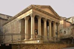 ρωμαϊκός ναός Στοκ Εικόνες