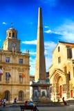 Ρωμαϊκός οβελίσκος, Arles, Γαλλία Στοκ Φωτογραφία