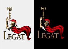 ρωμαϊκός πολεμιστής Legat πολέμαρχος Στοκ εικόνες με δικαίωμα ελεύθερης χρήσης