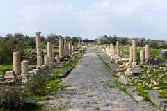 Ρωμαϊκός δρόμος Umm Qais στην Ιορδανία στοκ φωτογραφία με δικαίωμα ελεύθερης χρήσης