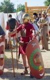 Ρωμαϊκός στρατιώτης λεγεωναρίων σε μια ιστορική αναπαράσταση Στοκ φωτογραφίες με δικαίωμα ελεύθερης χρήσης
