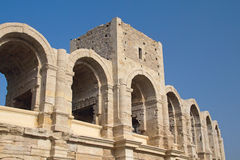 Ρωμαϊκός χώρος σε Arles. (Προβηγκία, Γαλλία) Στοκ Εικόνες