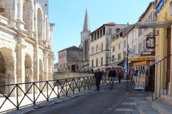 Ρωμαϊκό αμφιθέατρο στη γαλλική πόλη Arles Στοκ Φωτογραφία