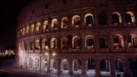 Ρωμαϊκό αμφιθέατρο Anfiteatro Flavio Colosseo, ένα ωοειδές αμφιθέατρο Colosseum Coliseum Flavian στο κέντρο της Ρώμης απόθεμα βίντεο
