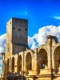 Ρωμαϊκό αμφιθέατρο, Arles, Γαλλία Στοκ Φωτογραφία