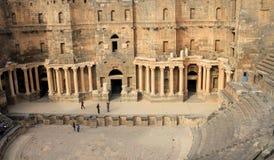 Ρωμαϊκό αμφιθέατρο Bosra - Συρία Στοκ Εικόνες