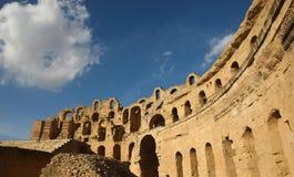 Ρωμαϊκό αμφιθέατρο EL Djem Στοκ Εικόνες