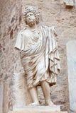 ρωμαϊκό θέατρο αγαλμάτων τ&omicr στοκ εικόνα