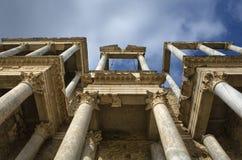 Λεπτομέρεια του Scena στο ρωμαϊκό θέατρο Στοκ Φωτογραφίες
