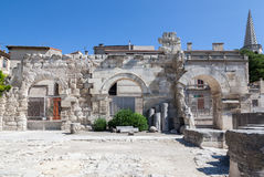 Ρωμαϊκό θέατρο Προβηγκία Γαλλία Arles Στοκ εικόνες με δικαίωμα ελεύθερης χρήσης