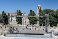 Ρωμαϊκό θέατρο Προβηγκία Γαλλία Arles Στοκ Φωτογραφίες