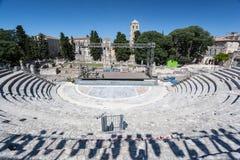 Ρωμαϊκό θέατρο Προβηγκία Γαλλία Arles Στοκ Εικόνες