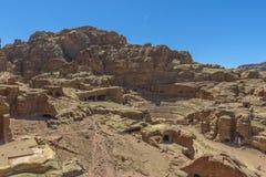 Ρωμαϊκό θέατρο στη Petra, Ιορδανία Στοκ Φωτογραφίες