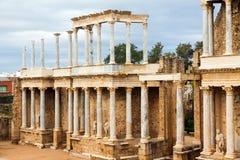 Ρωμαϊκό θέατρο στο Μέριντα Στοκ Εικόνα
