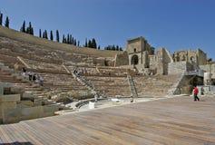 Ρωμαϊκό θέατρο της Καρχηδόνας Ισπανία Στοκ Εικόνες