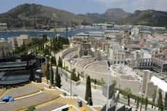 Ρωμαϊκό θέατρο της Καρχηδόνας, Ισπανία στοκ εικόνα