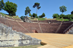 Ρωμαϊκό θέατρο του Αουγκούστα Raurica Στοκ εικόνες με δικαίωμα ελεύθερης χρήσης
