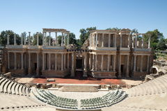 ρωμαϊκό θέατρο του Μέριντα Στοκ φωτογραφία με δικαίωμα ελεύθερης χρήσης