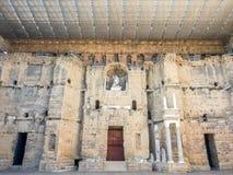 Ρωμαϊκό θέατρο του πορτοκαλιού, Γαλλία Στοκ Φωτογραφία