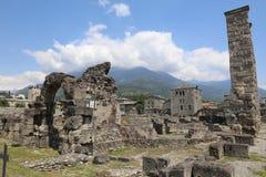 Ρωμαϊκό θέατρο Aosta Στοκ Εικόνες
