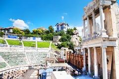 Ρωμαϊκό θέατρο Philippopolis σε Plovdiv, Βουλγαρία Στοκ Φωτογραφίες