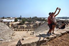 Ρωμαϊκό θέατρο, Xanthos, περιοχή παγκόσμιων κληρονομιών της ΟΥΝΕΣΚΟ, Lycia, Turke Στοκ φωτογραφίες με δικαίωμα ελεύθερης χρήσης