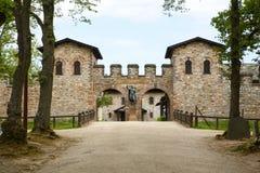 Ρωμαϊκό κάστρο Saalburg στα γερμανικά βουνά Taunus κοντά σε Frankf Στοκ εικόνα με δικαίωμα ελεύθερης χρήσης