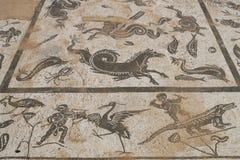 Ρωμαϊκό μωσαϊκό στο lica Ποσειδώνα Ità ¡ Στοκ εικόνες με δικαίωμα ελεύθερης χρήσης