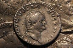 Ρωμαϊκό νόμισμα Vespasian στοκ εικόνα με δικαίωμα ελεύθερης χρήσης