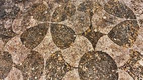 Ρωμαϊκό πάτωμα μωσαϊκών αυτοκρατοριών σε Ostia Antica - τη Ρώμη Στοκ Φωτογραφίες