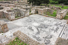 Ρωμαϊκό τοπίο λουτρών Cisiarii σε Ostia Antica - τη Ρώμη - την Ιταλία Στοκ εικόνες με δικαίωμα ελεύθερης χρήσης