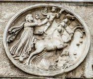 Ρωμαϊκό φόρουμ - αψίδα του Constantine γύρω από τη λεπτομέρεια ανακούφισης Στοκ Εικόνα