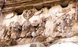 Ρωμαϊκό φόρουμ Ρώμη Ιταλία νίκης ναών της Ιερουσαλήμ λαφύρων αψίδων του Titus Στοκ Φωτογραφία