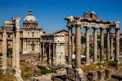 Ρωμαϊκό φόρουμ, Ρώμη, Ιταλία Στοκ Εικόνα