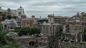Ρωμαϊκό φόρουμ Ρώμη Ιταλία στοκ εικόνες
