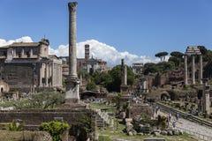 Ρωμαϊκό φόρουμ στην πόλη της Ρώμης - της Ιταλίας Στοκ Φωτογραφίες